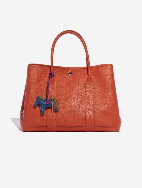 Hermès Rodeo PM Milo Lamb Bleu de Malte / Kraft / Violet Blue, Brown, Natural, Violet Front | Sell your designer bag on Saclab.com
