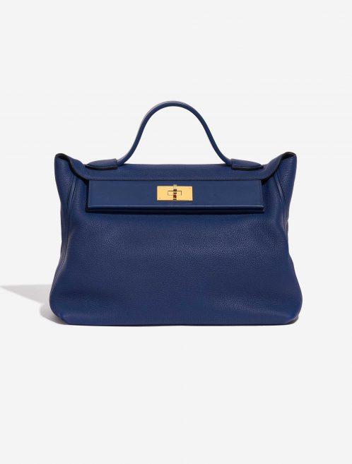 Hermès 24/24 35 Clemence / Swift Deep Blue Blue, Dark blue Front | Sell your designer bag on Saclab.com