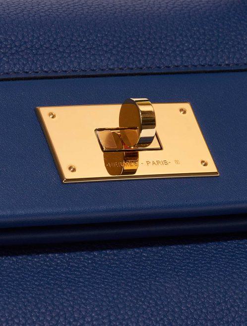 Hermès 24/24 35 Clemence / Swift Deep Blue Blue, Dark blue Closing System | Sell your designer bag on Saclab.com