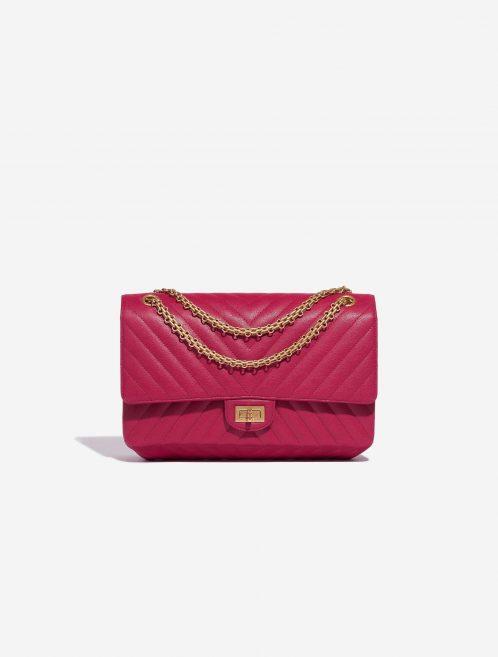 Chanel 2.55 Reissue 226 Calf Pink / Blue Blue, Dark blue, Pink Front | Sell your designer bag on Saclab.com