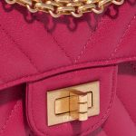 Chanel 2.55 Reissue 226 Calf Pink / Blue Blue, Dark blue, Pink Closing System   Sell your designer bag on Saclab.com
