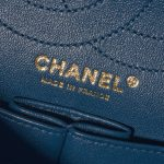 Chanel 2.55 Reissue 226 Calf Pink / Blue Blue, Dark blue, Pink Logo   Sell your designer bag on Saclab.com