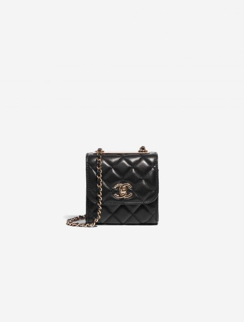 Chanel Clutch with Chain Lamb Black Black Front | Sell your designer bag on Saclab.com