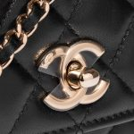 Chanel Clutch with Chain Lamb Black Black Closing System   Sell your designer bag on Saclab.com
