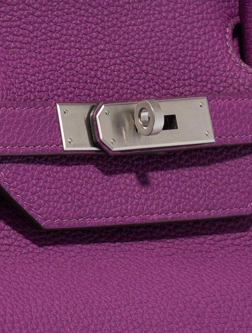 Hermès Birkin 40 HSS Togo Anemone / Bamboo Green, Violet Closing System | Sell your designer bag on Saclab.com