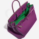Hermès Birkin 40 HSS Togo Anemone / Bamboo Green, Violet Inside   Sell your designer bag on Saclab.com