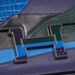 Hermès Constance 24 Endless Road Swift / Alligator / Lizard Blue Encre / Blue Zellige / Vert Cypress / Blue Nuit Blue, Dark blue, Green Closing System | Sell your designer bag on Saclab.com