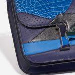 Hermès Constance 24 Endless Road Swift / Alligator / Lizard Blue Encre / Blue Zellige / Vert Cypress / Blue Nuit Blue, Dark blue, Green Detail | Sell your designer bag on Saclab.com