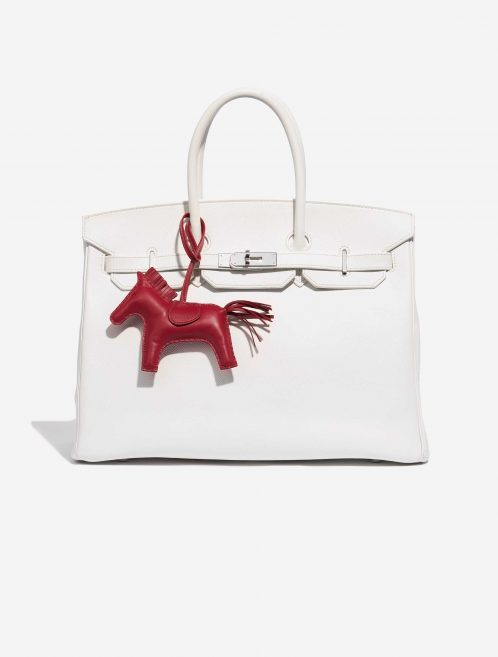 Hermès Rodeo MM Milo Lamb Rubis Red Front | Sell your designer bag on Saclab.com