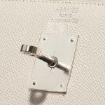 Hermès Kelly 35 Epsom Craie White Logo | Sell your designer bag on Saclab.com