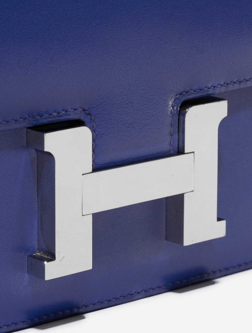 Hermès Constance 18 Swift Blue Electrique Blue, Dark blue Closing System | Sell your designer bag on Saclab.com