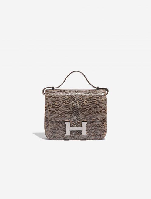Hermès Constance 18 Salvator Lizard Desert Ombré Brown, Natural Front   Sell your designer bag on Saclab.com
