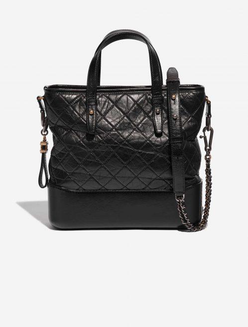 Chanel Gabrielle Medium Calf Black Black Front | Sell your designer bag on Saclab.com
