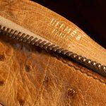 Hermès Plume Ostrich Cognac Brown Logo   Sell your designer bag on Saclab.com