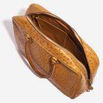 Hermès Plume Ostrich Cognac Brown Inside   Sell your designer bag on Saclab.com