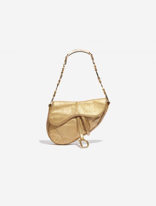 Dior Saddle Mini Ostrich Gold Gold Front   Sell your designer bag on Saclab.com
