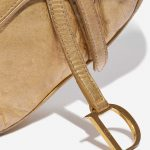 Dior Saddle Mini Ostrich Gold Gold Closing System | Sell your designer bag on Saclab.com