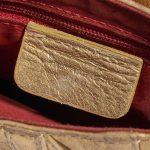 Dior Saddle Mini Ostrich Gold Gold Logo | Sell your designer bag on Saclab.com
