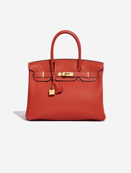 Hermès Birkin 30 Togo Rouge Sanguine Red Front | Sell your designer bag on Saclab.com
