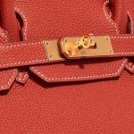 Hermès Birkin 30 Togo Rouge Sanguine Red Closing System   Sell your designer bag on Saclab.com