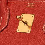 Hermès Birkin 30 Togo Rouge Sanguine Red Logo   Sell your designer bag on Saclab.com