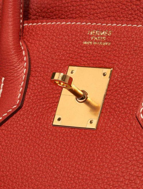 Hermès Birkin 30 Togo Rouge Sanguine Red Logo | Sell your designer bag on Saclab.com