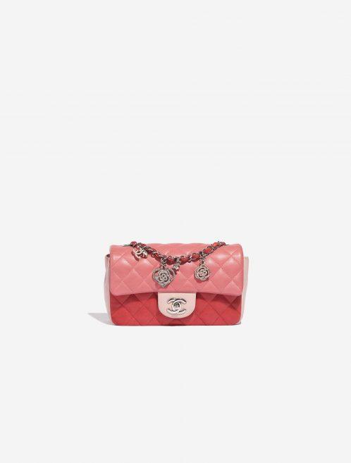 Chanel Timeless Mini Rectangular Lamb Pink / Red / Light Pink Rose, Pink Front | Sell your designer bag on Saclab.com