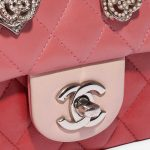 Chanel Timeless Mini Rectangular Lamb Pink / Red / Light Pink Rose, Pink Closing System | Sell your designer bag on Saclab.com