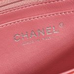 Chanel Timeless Mini Rectangular Lamb Pink / Red / Light Pink Rose, Pink Logo | Sell your designer bag on Saclab.com