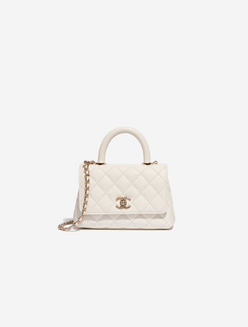 Chanel Timeless Handle Extra Mini Caviar White White  | Sell your designer bag on Saclab.com