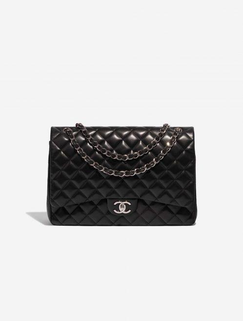 Chanel Timeless Maxi Lamb Black Black Front | Sell your designer bag on Saclab.com