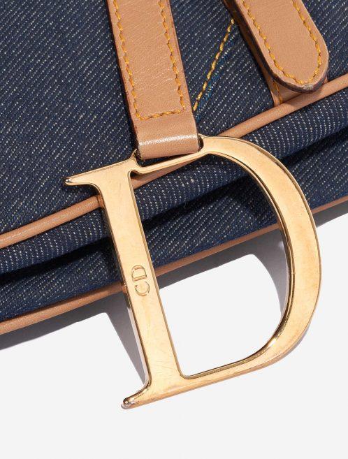 Dior Saddle Medium Leather Denim Blue Blue, Dark blue, Natural Closing System   Sell your designer bag on Saclab.com
