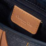 Dior Saddle Medium Leather Denim Blue Blue, Dark blue, Natural Logo   Sell your designer bag on Saclab.com