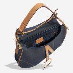 Dior Saddle Medium Leather Denim Blue Blue, Dark blue, Natural Inside   Sell your designer bag on Saclab.com