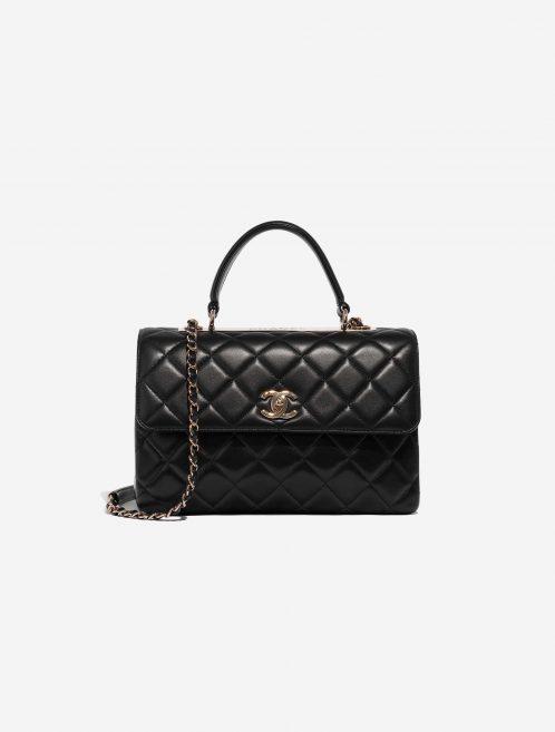 Chanel Timeless Handle Medium Calf Black Black Front | Sell your designer bag on Saclab.com