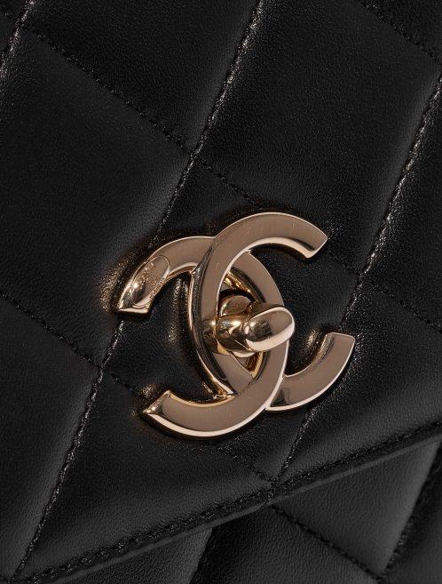 Chanel Timeless Handle Medium Calf Black Black Closing System | Sell your designer bag on Saclab.com