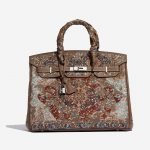 Hermès Birkin 35 Togo / Embroidery customised by Jay Ahr Brown, Multicolour Front | Sell your designer bag on Saclab.com