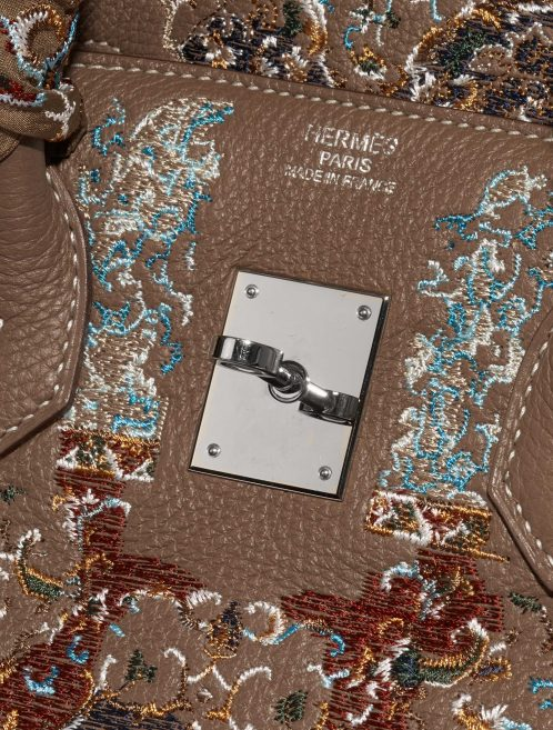 Hermès Birkin 35 Togo / Embroidery customised by Jay Ahr Brown, Multicolour Logo | Sell your designer bag on Saclab.com