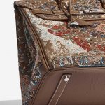Hermès Birkin 35 Togo / Embroidery customised by Jay Ahr Brown, Multicolour Detail | Sell your designer bag on Saclab.com