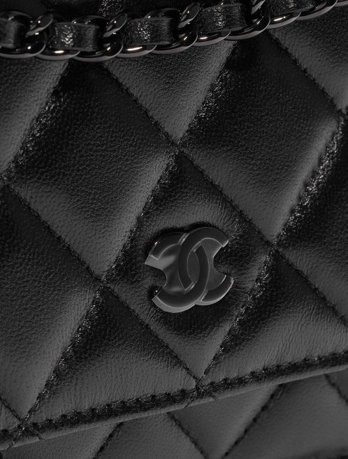 Chanel WOC Lamb So Black Black Closing System | Sell your designer bag on Saclab.com