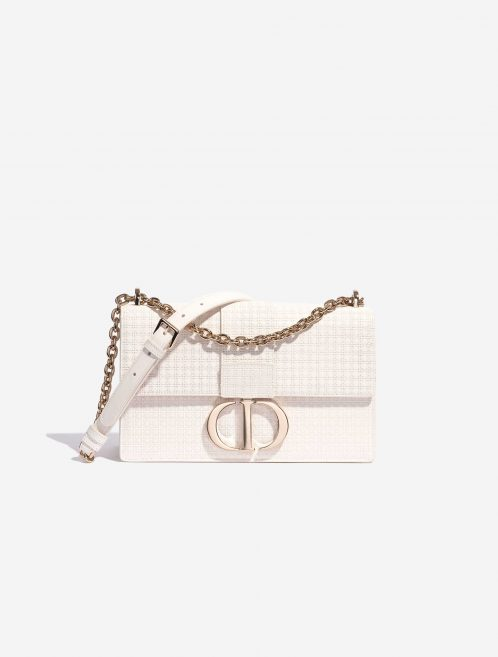 Dior 30 Montaigne Calf White White Front   Sell your designer bag on Saclab.com