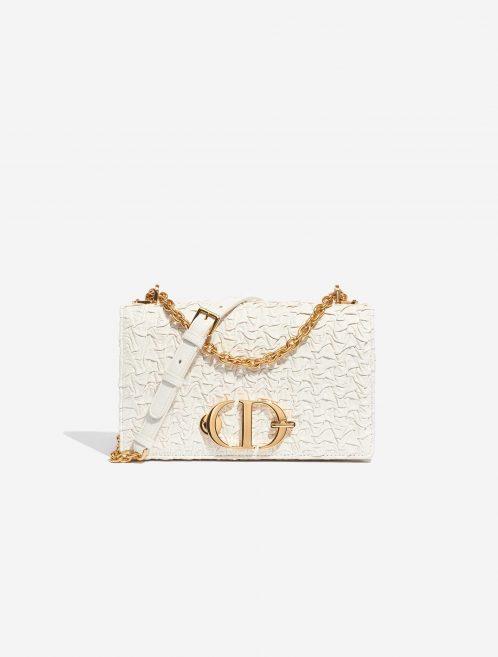 Dior 30 Montaigne Calf Ecru White Front   Sell your designer bag on Saclab.com