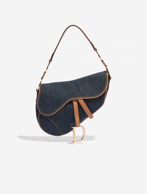 Dior Saddle Medium Denim Blue Blue Front   Sell your designer bag on Saclab.com