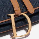Dior Saddle Medium Denim Blue Blue Closing System   Sell your designer bag on Saclab.com