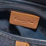 Dior Saddle Medium Denim Blue Blue Logo   Sell your designer bag on Saclab.com