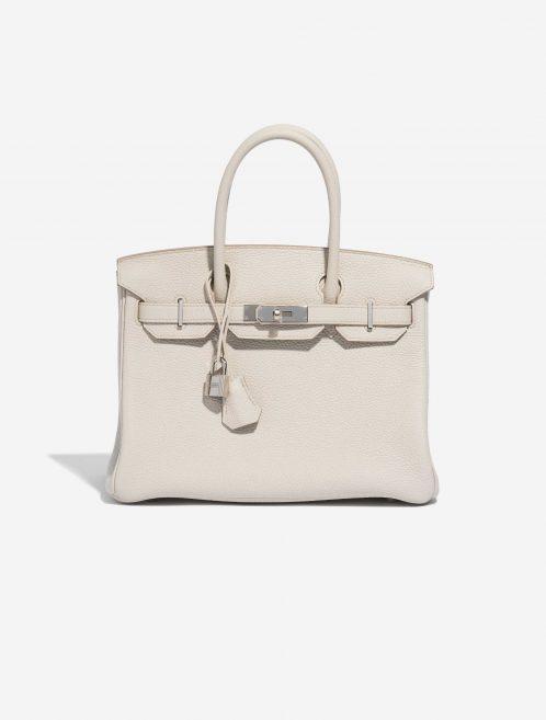 Hermès Birkin 30 Clemence Beton White Front | Sell your designer bag on Saclab.com
