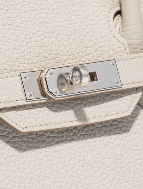 Hermès Birkin 30 Clemence Beton White Closing System | Sell your designer bag on Saclab.com