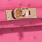 Hermès Kelly Mini HSS Ostrich Rose Fuchsia / Beige de Weimar Rose, Pink Closing System   Sell your designer bag on Saclab.com