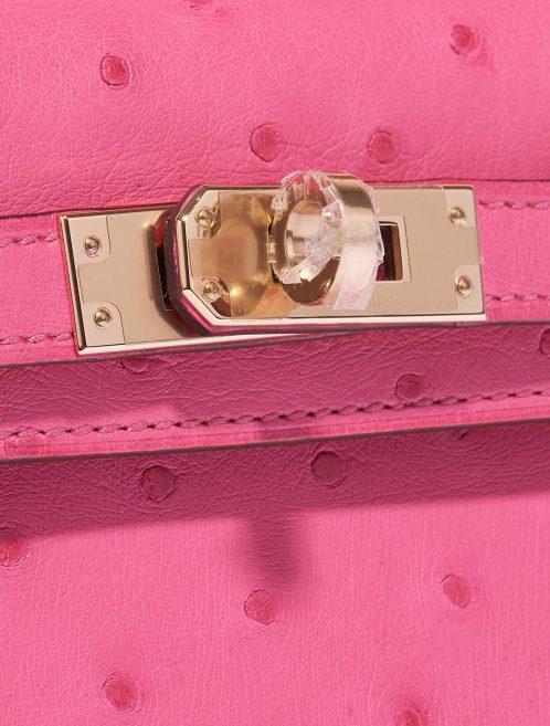 Hermès Kelly Mini HSS Ostrich Rose Fuchsia / Beige de Weimar Rose, Pink Closing System | Sell your designer bag on Saclab.com