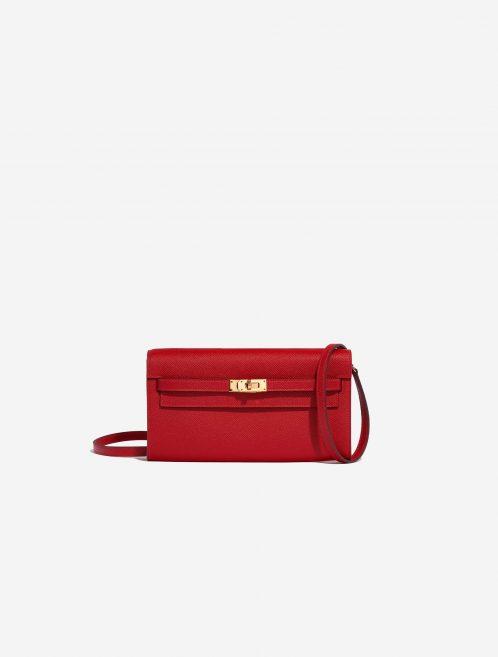 Hermès Kelly to-go Epsom Rouge Casaque Red Front | Sell your designer bag on Saclab.com